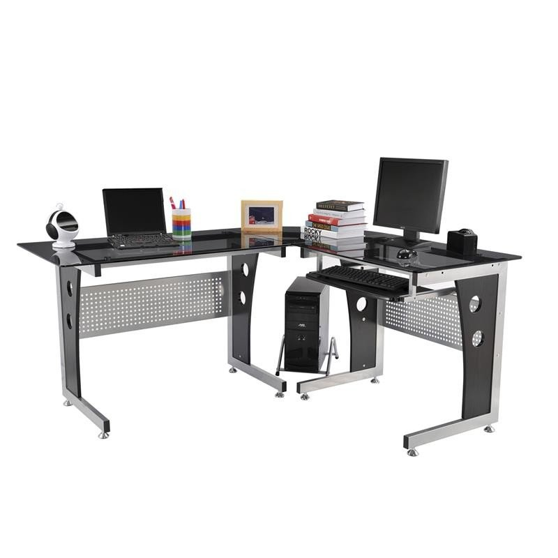 Modern L-Shaped Computer Desk