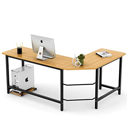 Image Unavailable. Image not available for. Color: Tribesigns Modern L-Shaped  Desk Corner Computer