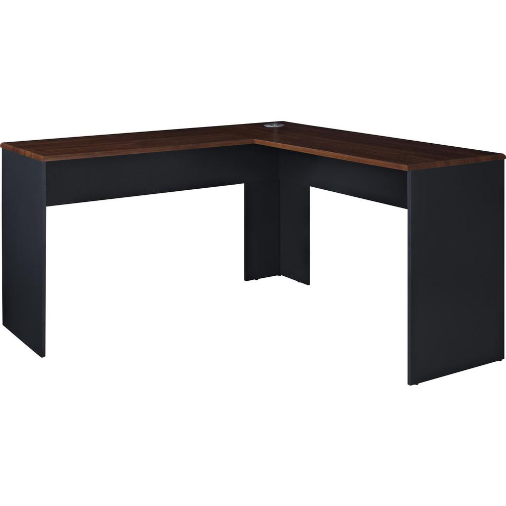 Ameriwood Home Greywood Cherry and Gray L-Shaped Computer Desk-HD65072 -  The Home Depot