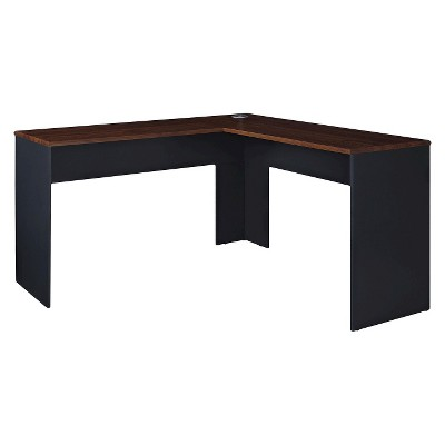Eastcrest Contemporary L-Shaped Desk - Cherry/Slate Gray - Room & Joy :  Target