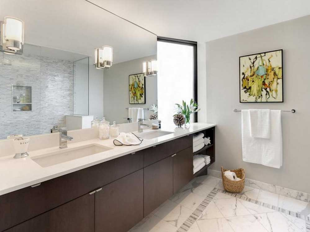 New Large Bathroom Mirrors