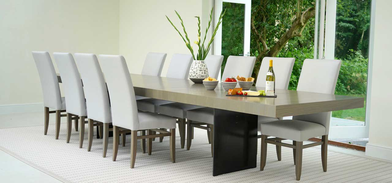 Dining Tables, Large Dining Tables Large Dining Room Table Seats 20 Clifton  Steel Extending Table