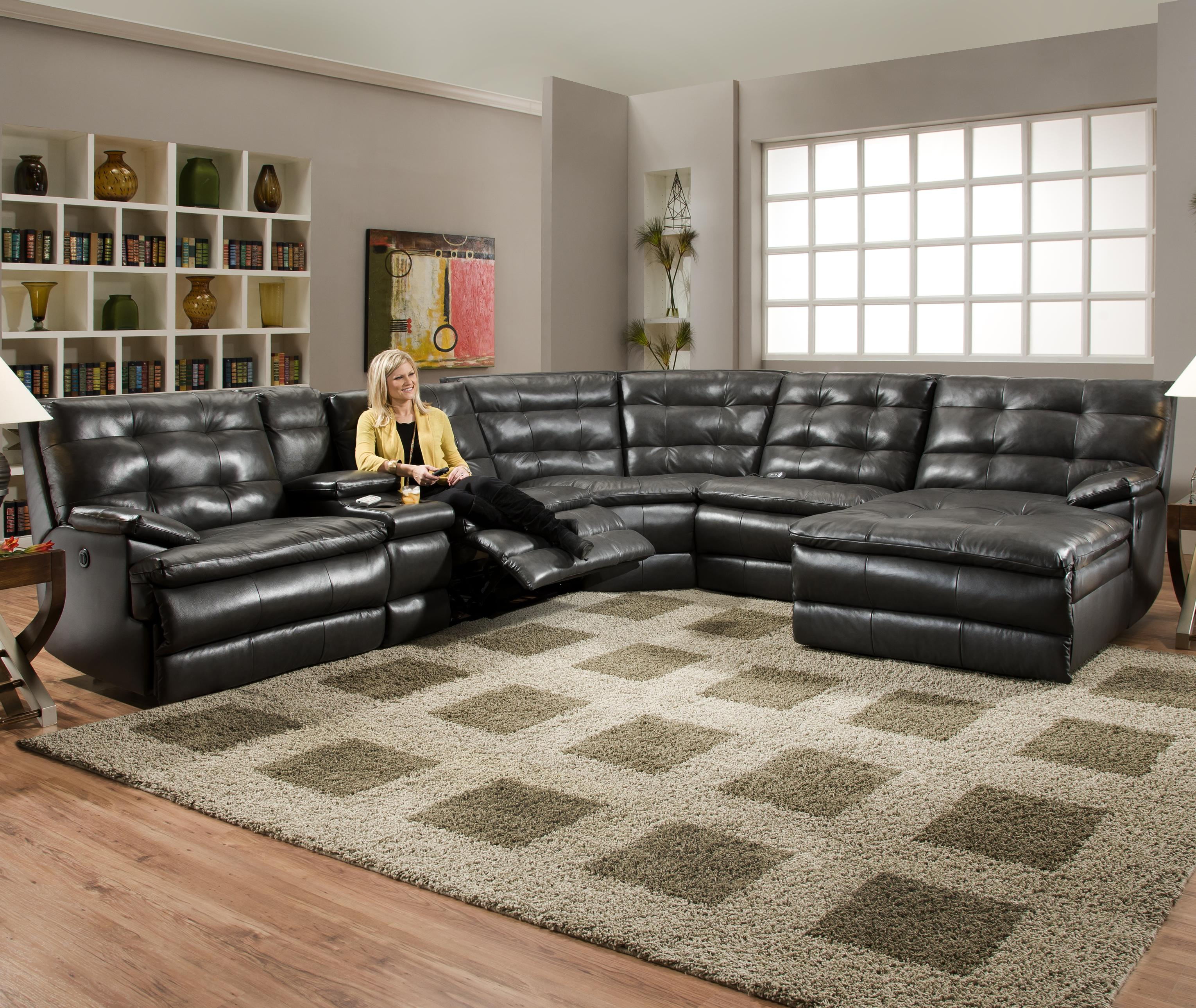Furniture Gorgeous Style Sectional Sofa With Recliner For Your