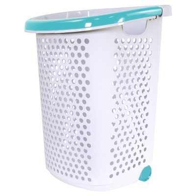 Home Logic Rolling Laundry Hamper With Handles White/Teal - Room  Essentials™ : Target