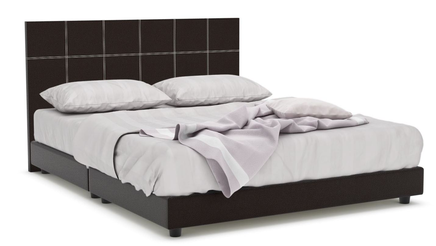 Quadeco Faux Leather Bed Frame (Queen)