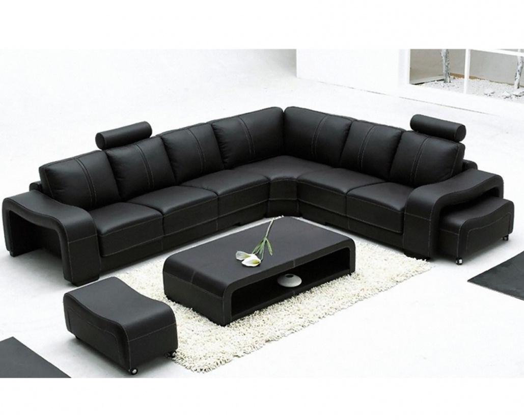 Palermo Italian Modular Corner Sofa - Black Leather