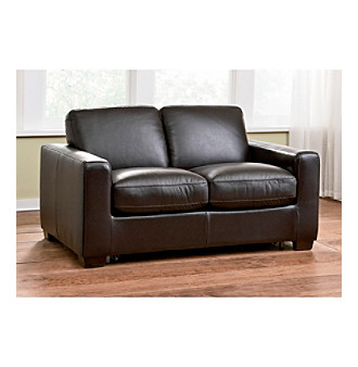 Natuzzi Editions Sleep Solutions Leather Sleeper Loveseat