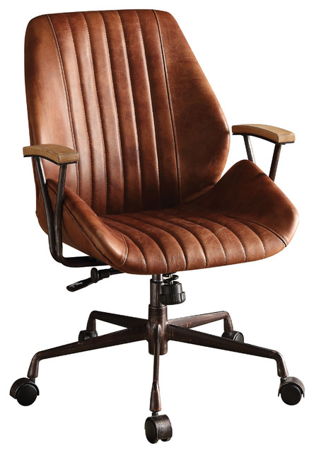 Hamilton Top-Grain Leather Office Chair, Cocoa