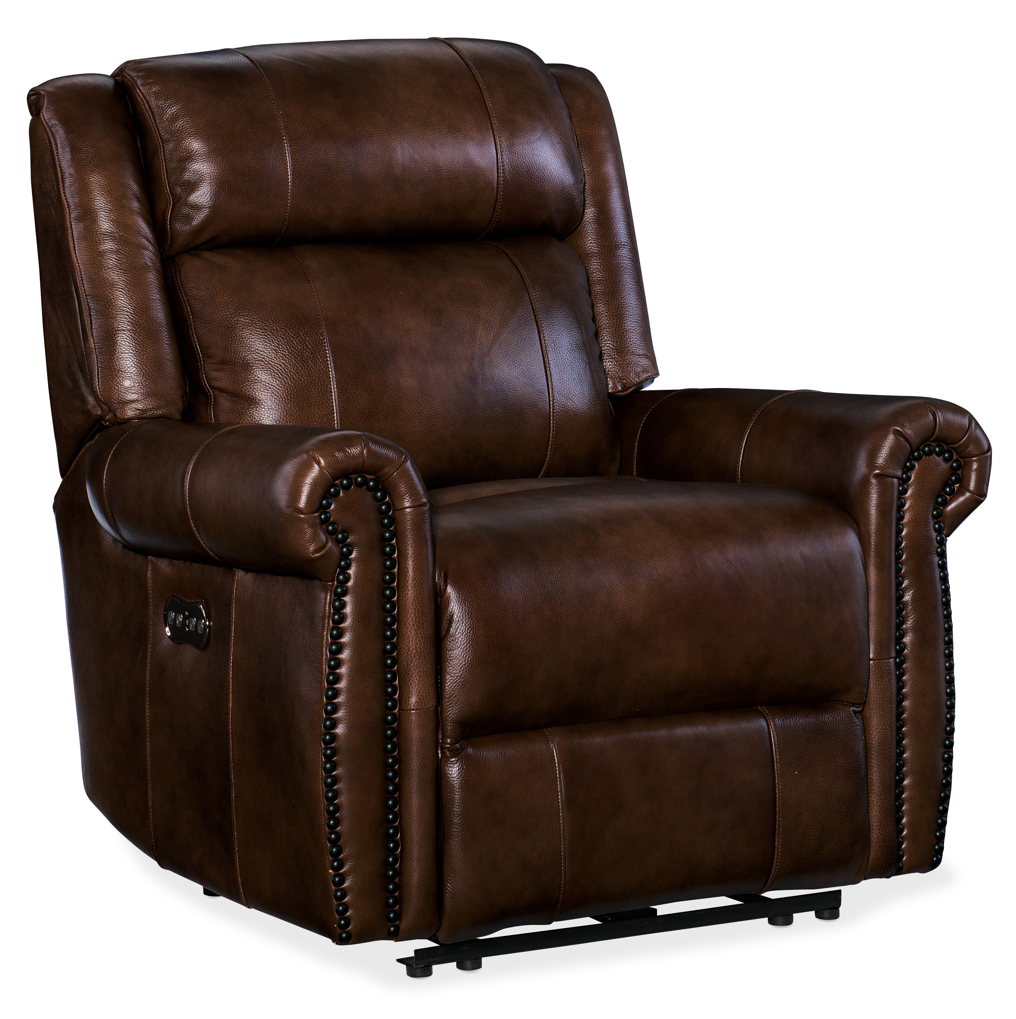 Hooker Furniture Esme Leather Power Recliner with Power Headrest | Wayfair