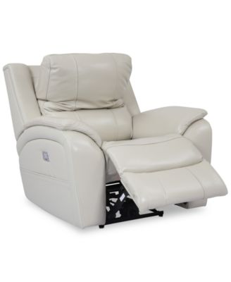 Furniture Karuse Leather Power Recliner with Power Headrest and USB  Power Outlet