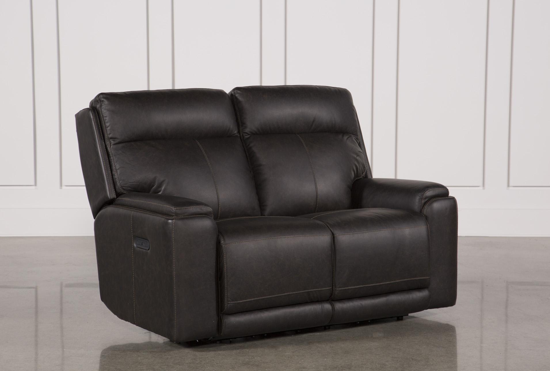Sinjin Leather Power Reclining Loveseat W/Power Headrest - 360