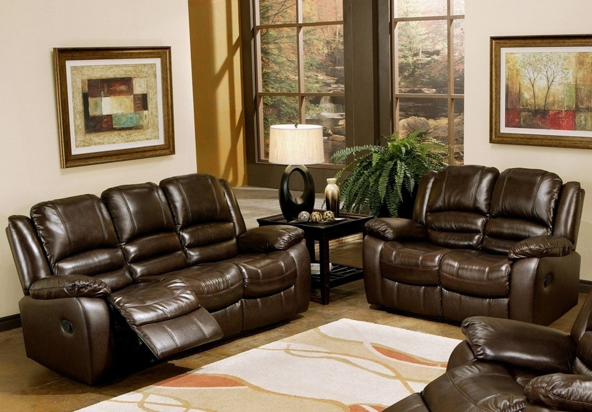 Leather Reclining Sofa Room
