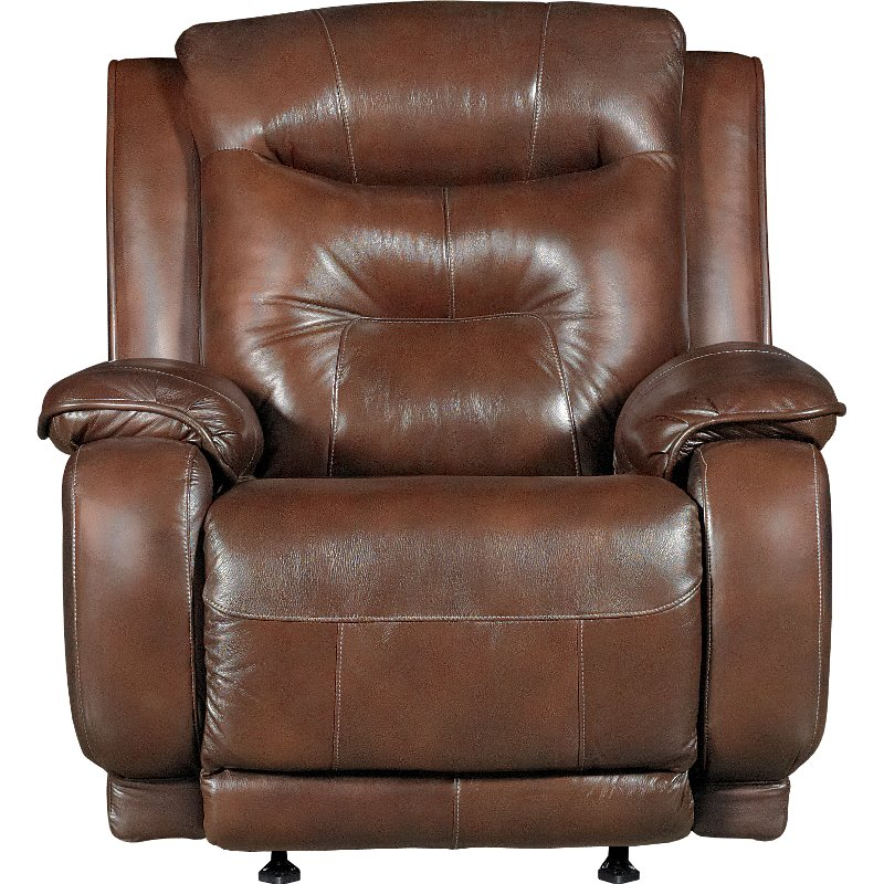 Palazzo Dark Brown Leather-Match Manual Rocker Recliner - Cresent | RC  Willey Furniture Store