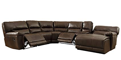Image Unavailable. Image not available for. Color: Homelegance 6 Piece  Bonded Leather Sectional Reclining Sofa