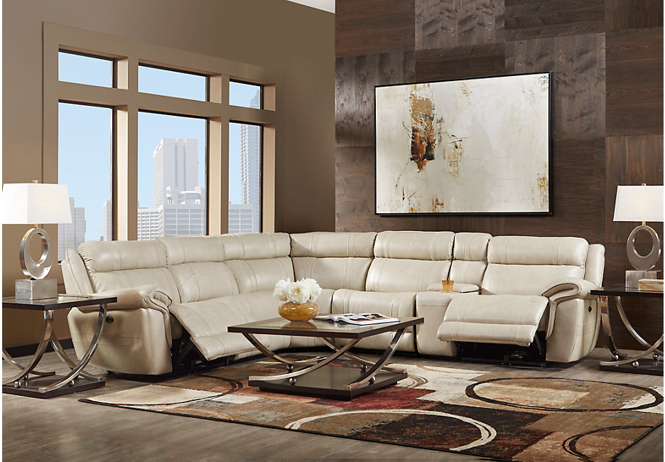 Furniture Guide: Sectionals. Leather Recliner Sectional