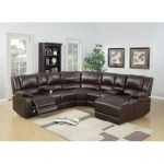 Leather Sectional Recliner Sofa