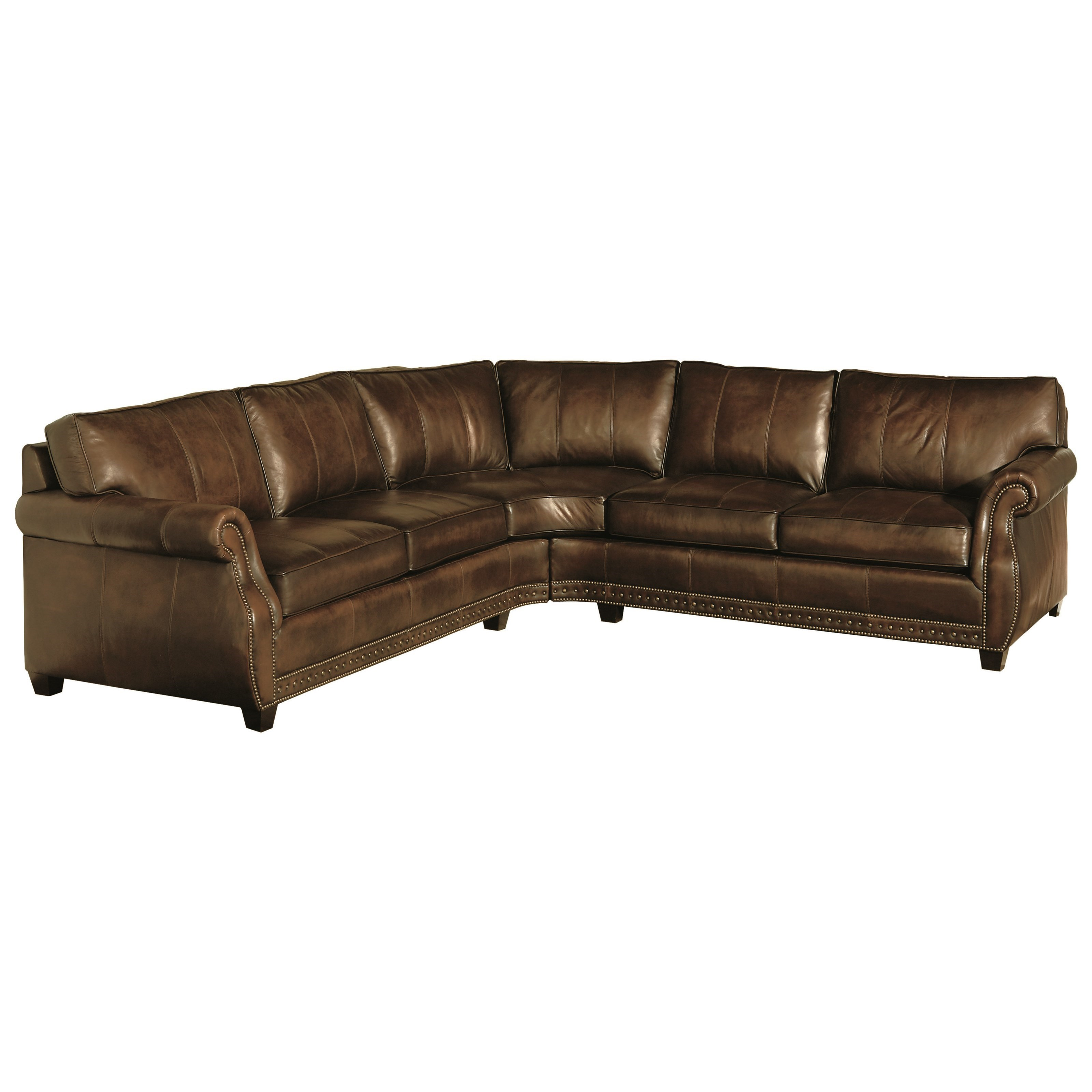 Bernhardt Bradley Leather Sectional