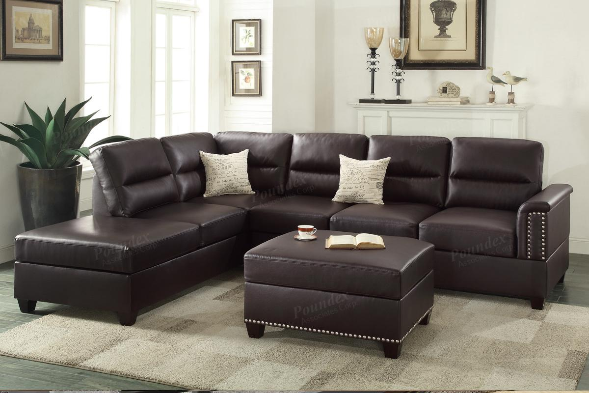 Brown Leather Sectional Sofa - Steal-A-Sofa Furniture Outlet Los Angeles CA