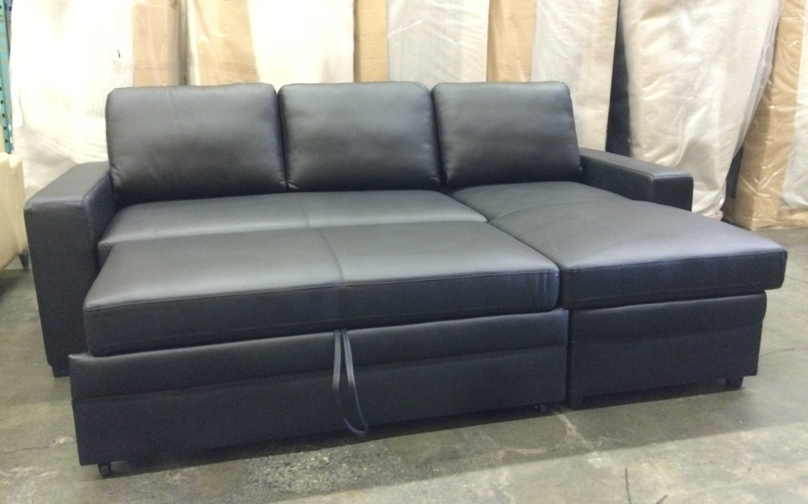 Real Leather Sectional Sofa Bed
