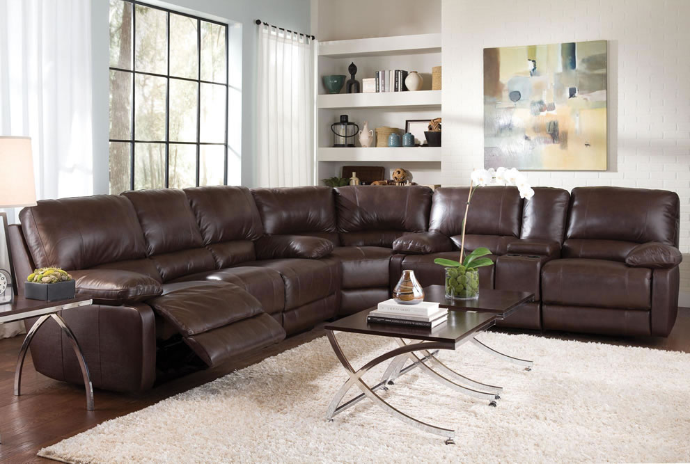 Leather Sectional Sofas With Recliners