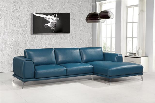 Modern genuine leather sofas l shape sofa set designs leather sofa with  sectional sofa