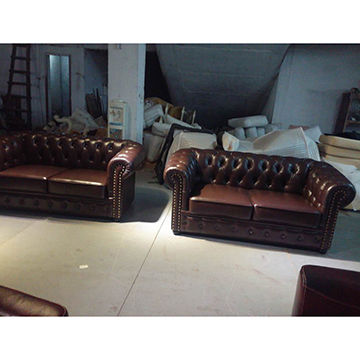 Leather sofa set China Leather sofa set