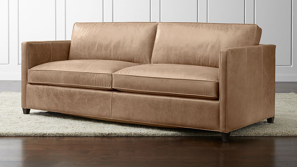 Dryden Leather Queen Sleeper Sofa with Air Mattress + Reviews | Crate and  Barrel