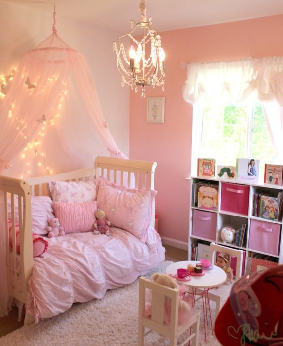 Any little girl would adore this room, fit for a princess! Its simply  pretty in pink!
