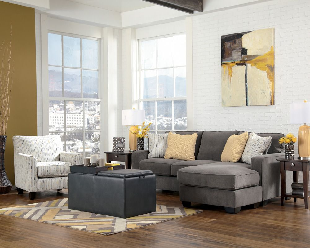 grey sectional with accent chair Living Room Sofa, Living Area, Living Room  Furniture,