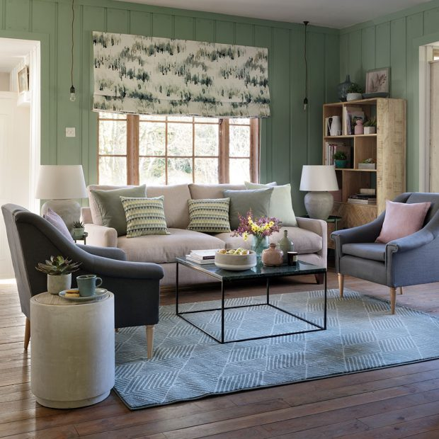 Green living room ideas – redecorate with the colour of the season