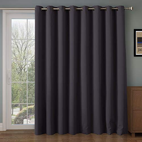 Rose Home Fashion Room Divider Curtain,Blackout&Thermal&Thick 108 inches  Long Curtain,Extra Long and