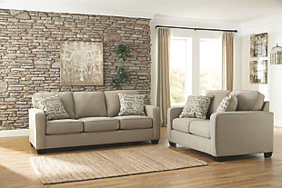 Alenya Sofa and Loveseat, Quartz,