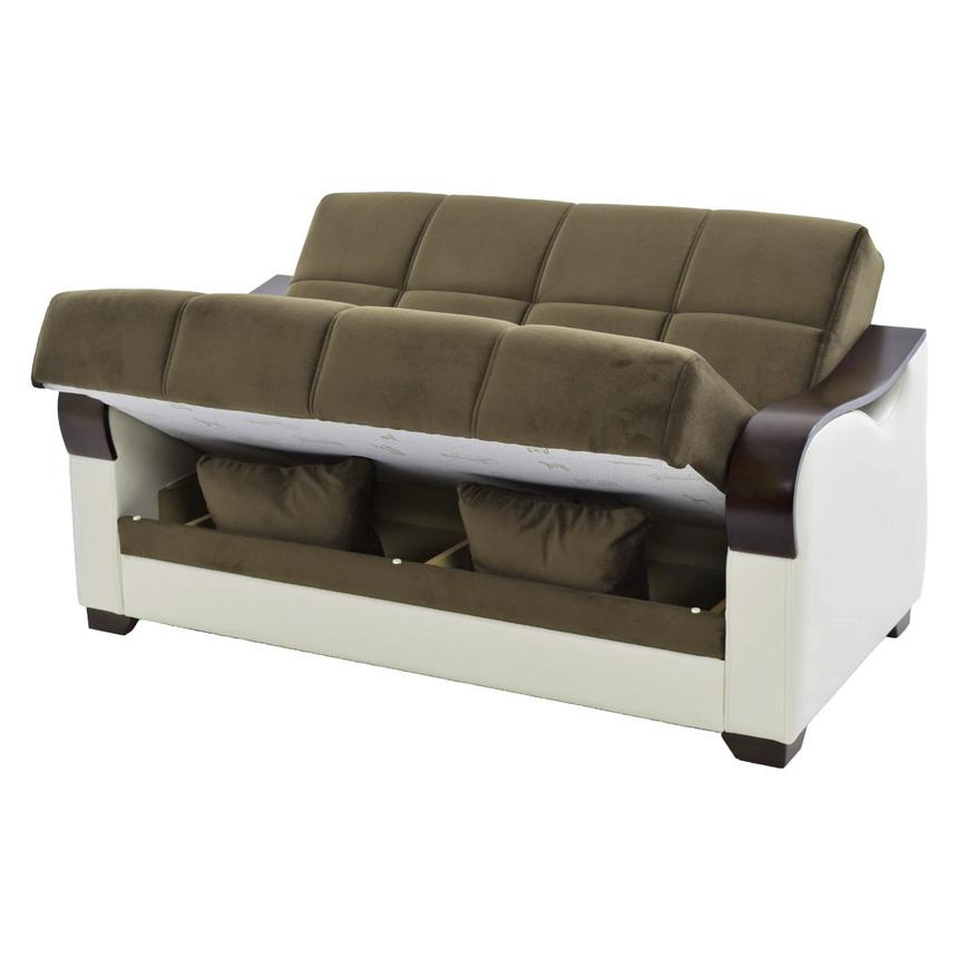 Bennett Futon Loveseat w/Storage alternate image, 2 of 7 images.