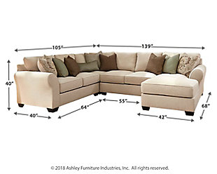 Wilcot 4-Piece Sectional with Chaise, , large