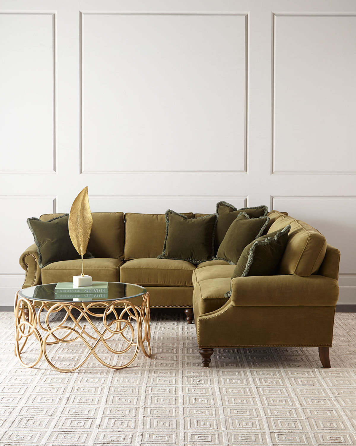 Alix Right Corner Sofa with Left-Facing Loveseat Sectional   Neiman Marcus
