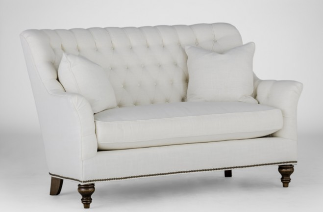 Abbey Settee | French loveseat | Gabby Tailored