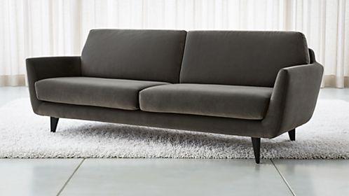 Rucola Grey Velvet Sofa