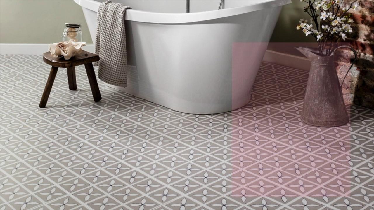 Bathroom Flooring Ideas   Beautiful Luxury Vinyl Flooring Designs - YouTube