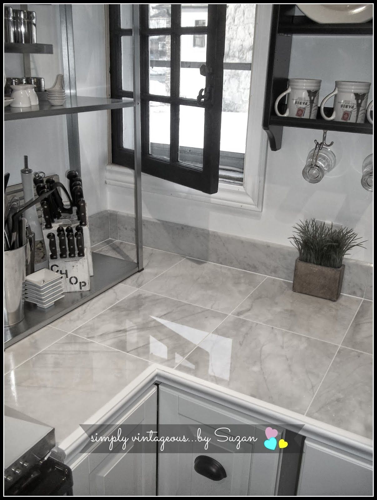 marble tile countertops