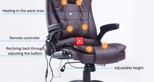 Traveller Location: Home Office Computer Desk Massage Chair Executive Ergonomic  Heated Vibrating (Brown): Kitchen & Dining