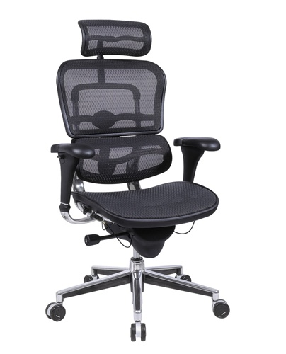 Eurotech ME7ERG Ergohuman Mesh Ergonomic Chair w/ Headrest