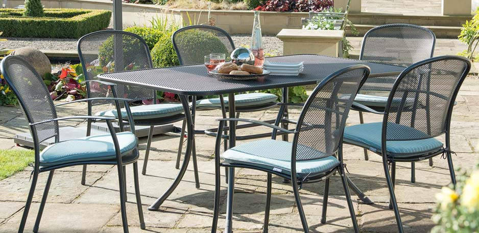 Patio: amusing metal garden chairs Wrought Iron Garden Furniture