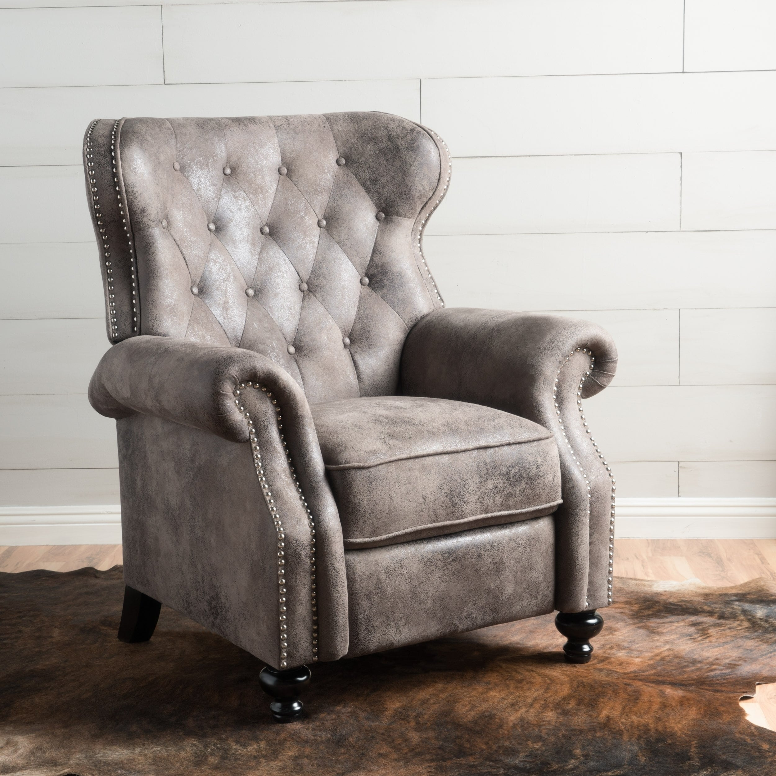 Shop Walder Tufted Microfiber Recliner Club Chair by Christopher Knight  Home - On Sale - Free Shipping Today - Overstock - 15279318