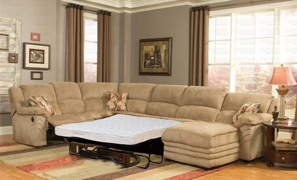 Gallery Best Microfiber Sectional Sleeper Sofa Leather Reclining