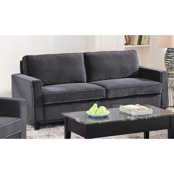 Shop Lifestyle Solutions Grayson Grey Microfiber Sofa - Free Shipping Today  - Overstock - 17126309