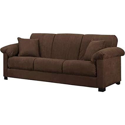 Montero Microfiber Convert-A-Couch Sofa Bed, Dark Brown