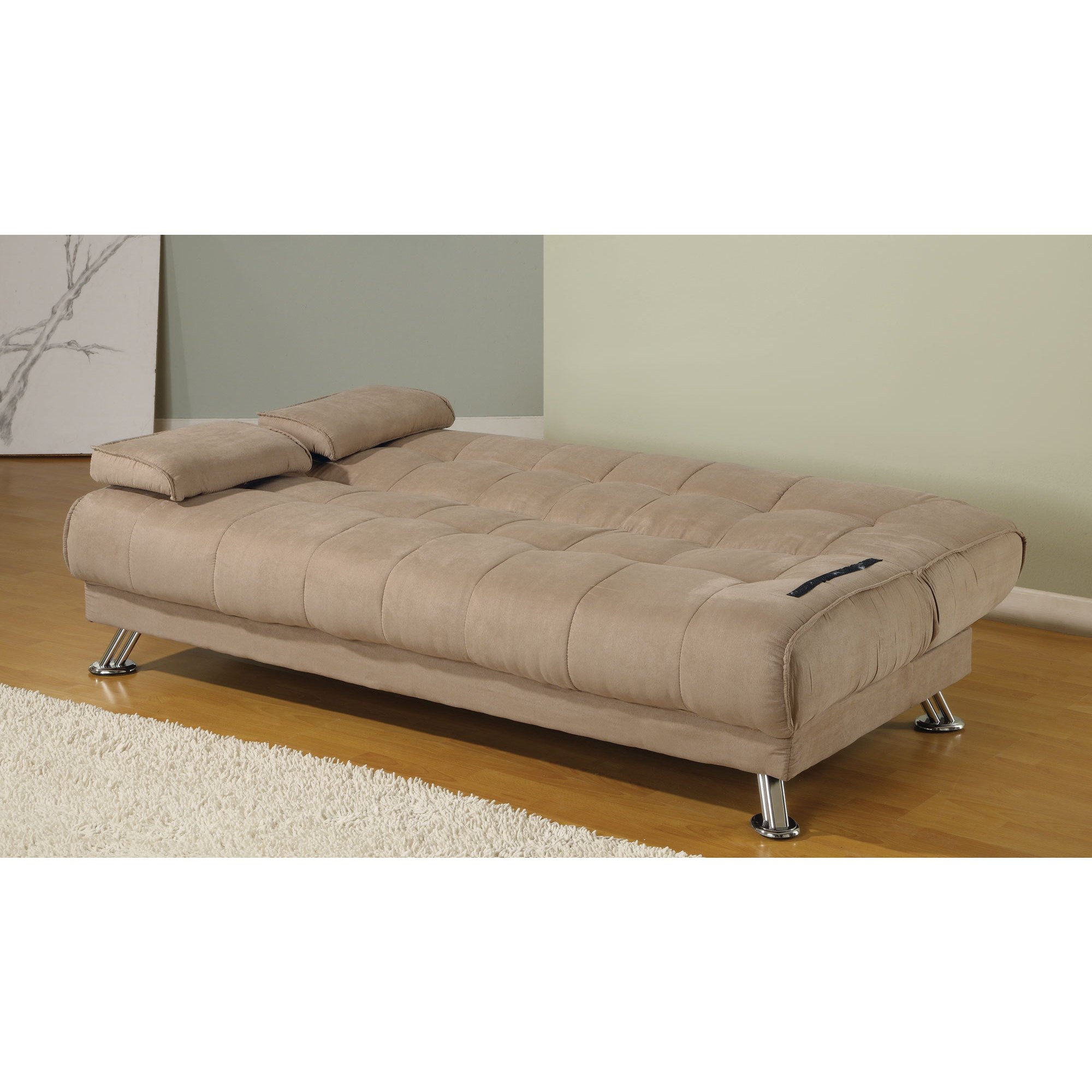 Shop Coaster Company Tan Microfiber Sofa Bed - On Sale - Free Shipping  Today - Overstock - 12189298