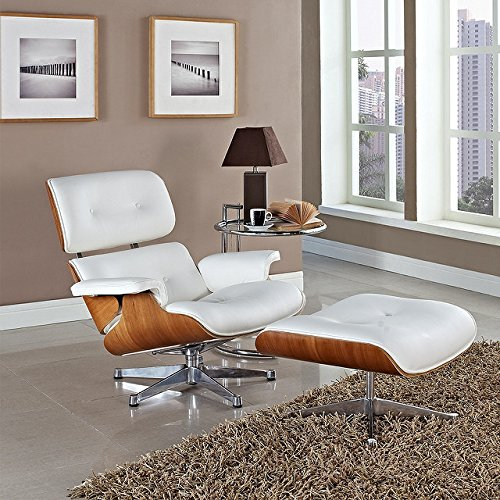 MLF® Plywood Eames Lounge Chair & Ottoman - Contemporary Leather Recliners