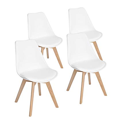 Set of 4 Modern Accent Side Dining Chair Kitchen Chairs Upholstered Lounge  Chair with Soft Padded