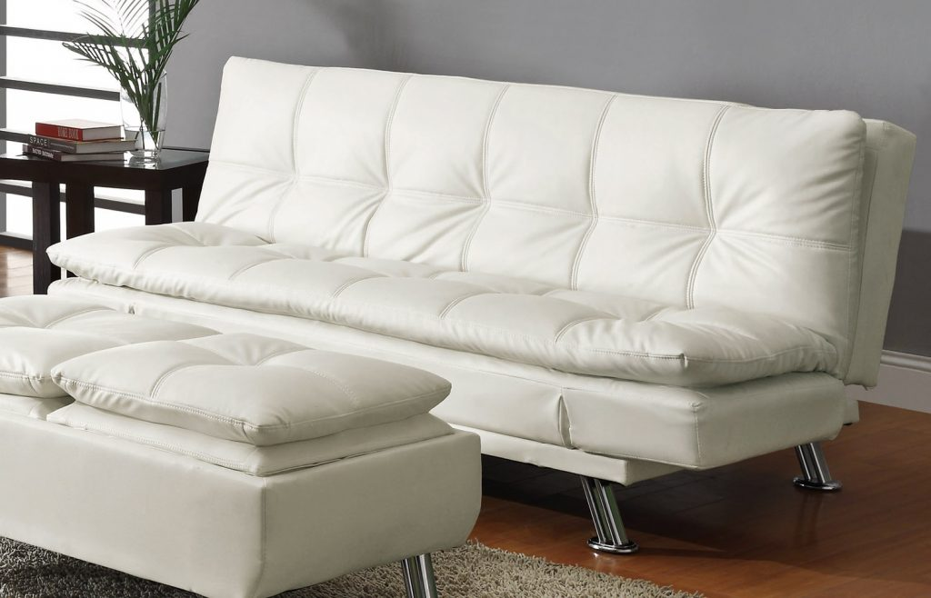 furnitures: Leather Sofa With Storage Furnitures Furniture Modern Tufted  White Comfortable Design: Leather Sofa